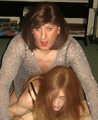 Kinky Kirsty gets fucked by her horny crossdressing fuck buddy in this hot group party