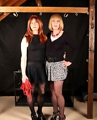 Tgirl mistress Lucimay ties up a naughty crossdresser and punishes her