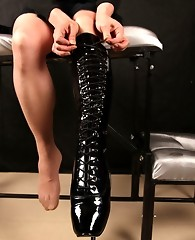 Tgirl Lucimay looks fucking beautiful in her Ballet Boots
