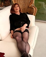 Nylon stockings look stunning when Lucimay wears them