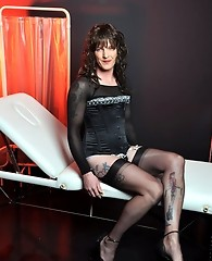 This smiling TGirl is ready for her yearly check up