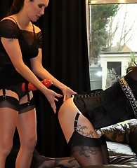 Strapon Jane absolutely punishes this hot TGirls ass